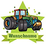 Samunshi® Traktor Aufkleber mit Namen Autoaufkleber Namensaufkleber Kinder in 7 Größen (10x8,8cm Mehrfarbig)