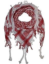PURECITY® Keffieh Shemagh Foulard Palestinien 100% Coton - 110 cm x 110 cm