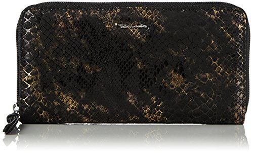 Tamaris Damen Debra Big Zip Around Wallet Geldbörse, Gold (Bronce), 2x10x19.5 cm (Gold-abend-geldbeutel)