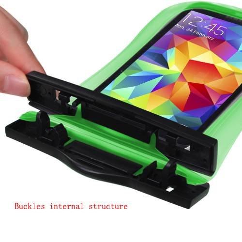 Premium Sac étanche étui brassard sport pour iPod Touch (5e génération), iPhone 5S/5C/5/5/5(avec cordon) (Vert) + mynetdeals Mini Stylet pour écran tactile