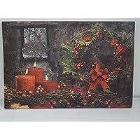 pannello decorativo con luce led babbo natale 60 cm x 40 cm con interruttore