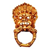 #10: Purpledip Brass Door Knocker Drawer Pull Ring Handle Knob 'Evil Eye' (11132)