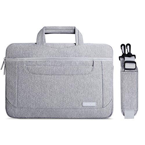 MOSISO Bolso de Hombro Compatible 13-13.3 Pulgadas MacBook Pro/MacBook Air/Notebook, Los Bolsillos Organizador Bolso de Asunto del Trabajo del Negocio del Trabajo Multifuncional de Viaje, Gris