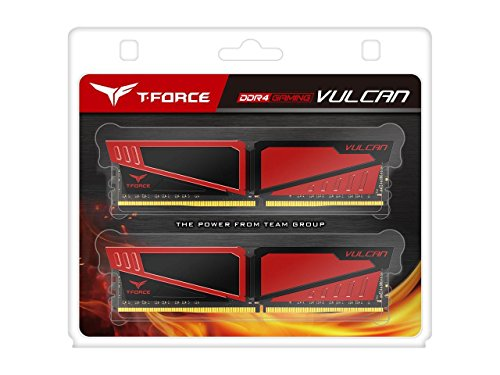 Price comparison product image Team Group Vulcan ddr4-3000 16GB 16GB DDR4 3000MHz Memory Module – 16GB (2 x 8GB DDR4 3000 MHz,  288-pin DIMM Modules,  Red)