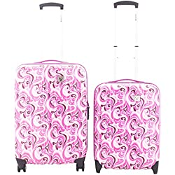 Roncato Trolley Juego de maletas, 70 liters, Morado (Fucsia)