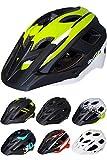 Skullcap® Fahrradhelm ♦ MTB Helm ♦ Mountainbike Helm ♦ Herren & Damen ♦ Schwarz/Neon-Grün matt ✚ Visier/Helmschild (Viper-Green, L)