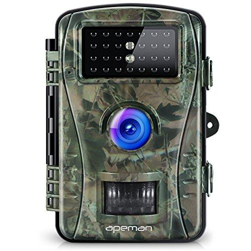 APEMAN Caméra de Chasse Full HD 2.4 'LCD 26PCS 940nm IR LEDs Avec Accéléré 60° Grand Angle Vision Nocturne jusqu'à 65 pieds/20m