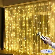 c77037935f0 Cortina de Luces USB 3   3 m 300 LED Resistente al Agua con 8 Modos