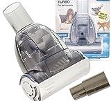 MASSADE Profi Mini Turbo Textil & Tierhaar Staubsauger Adapter Teppich / KFZ - Katzen und Hunde Bürste Diameter 32 / 35mm für Haushalt und Auto
