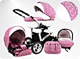 Lux4Kids Kinderwagen set 3in1 (Autositz & Adapter, Regenschutz,...