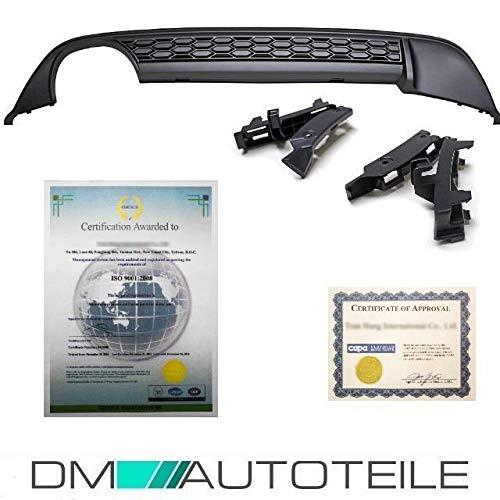 DM Autoteile Diffusor Stoßstange Ansatz Schwarz Matt 2 Rohr GTI GTD passend für Golf 7 VII