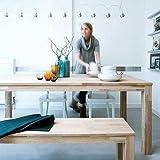 Massiver Tisch Bergen, Eiche, unbehandelt, 180x85cm