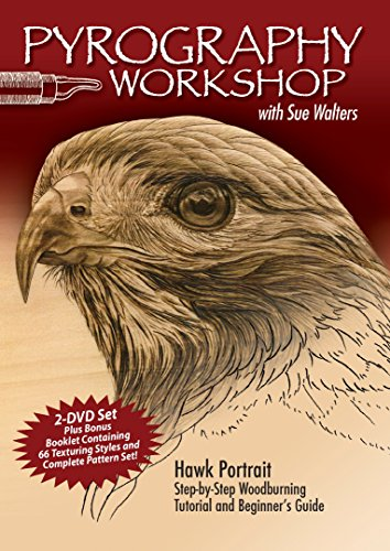 Pyrography Workshop With Sue Walters: Hawk Portrait, Step-by-step Woodburning Tutorial and Beginner's Guide por Sue Walters