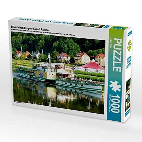 Schaufelraddampfer Kurort Rathen 1000 Teile Puzzle quer