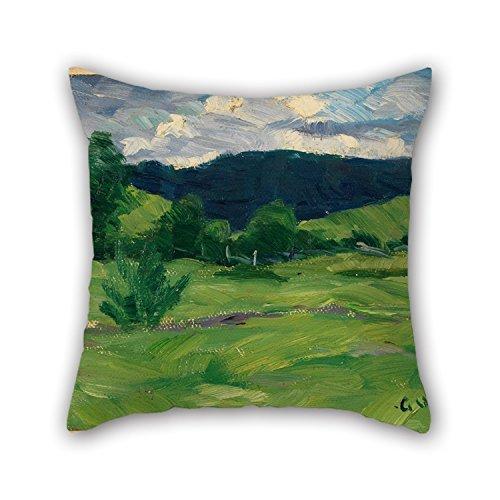 beautifulseason Überwurf Kissenbezüge von Öl Gemälde Gustav Wentzel-Sommer für Auto Sitz BF Sofa Boy Friend Kids Mädchen 50,8x 50,8cm/50von 50cm (beide Seiten)