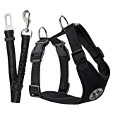 Best Dog Car Harnesses - SlowTon Dog Car Harness Plus Connector Strap, Multifunction Review