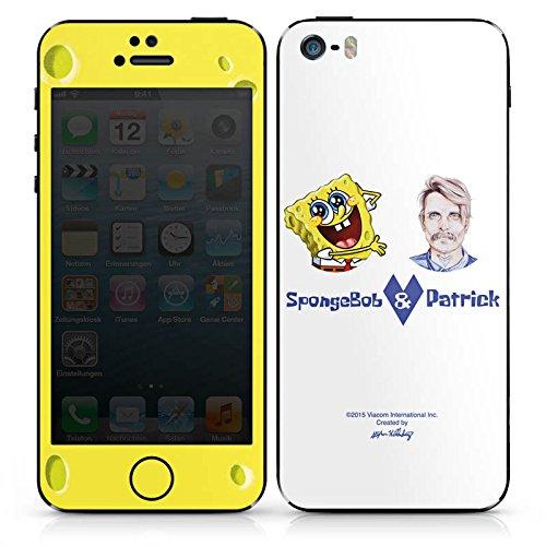 Apple iPhone SE Case Skin Sticker aus Vinyl-Folie Aufkleber Spongebob Merchandise Fanartikel Patrick Mohr DesignSkins® glänzend