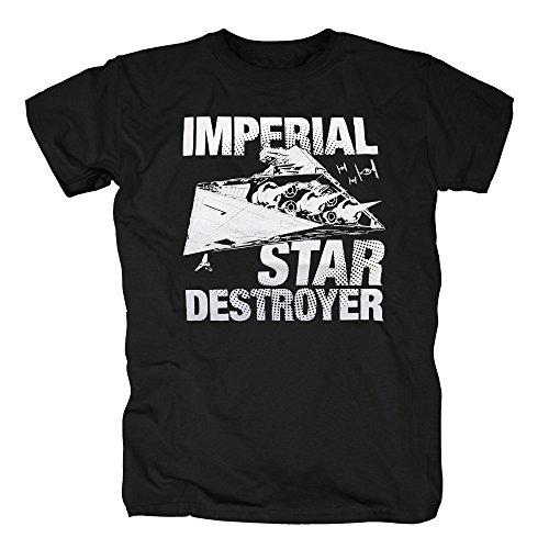 rial Star Destroyer T-Shirt Herren XXL Schwarz ()
