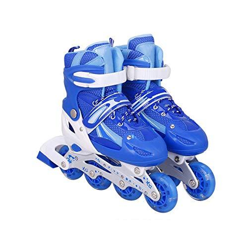 lph LED Inline-Skates, Rollschuhe für Kinder, ideal für Anfänger, komfortable Rollschuhe, Inliner für Mädchen und Jungen, größenverstellbar von 27 bis 41, 3 Farben zur Auswahl