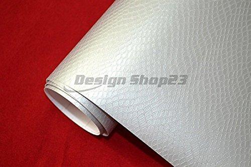 e Schlangenleder Optik - BOA WEISS - 50 x 152 cm blasenfrei selbstklebend flexibel Auto Deko Folie Schutzfolie ()
