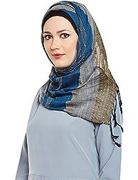 Momin Libas Women's Viscose Beaded Hijab (HCT38917A_Multicoloured_Free Size)