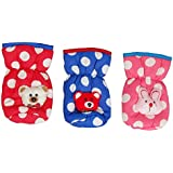 ADRIEL BRINGING JOY ® New Born Baby Feeding Bottle Cover Cotton Fabric Flower Print | Printed Bottle Cover | Baby Bottle Cover Set | Feeder Cover New Born Baby Fancy Bottle Cover | Polka Dots Baby Bottle Cover 125 ML - Pack of 3