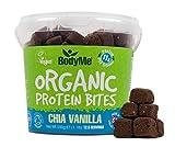 BodyMe Organic Vegan Protein Bites | Raw Chia Vanilla | 500g (12.5 x 40g Servings) | With 3 Plant Proteins by BodyMe