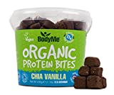 BodyMe Bio Vegane Protein Snacks Bisse | Roh Chia Vanille | 500g (12.5 x 40g Portionen) | Mit 3 Pflanze Proteine
