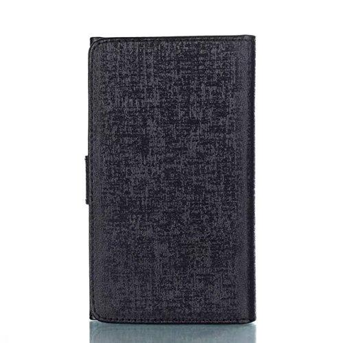 Cross Lines Texture Dreifach Typ PU Leder Brieftasche Case mit freistehenden TPU Back Cover Card Slots für Samsung Galaxy J3 2017 ( Color : Blue ) Black