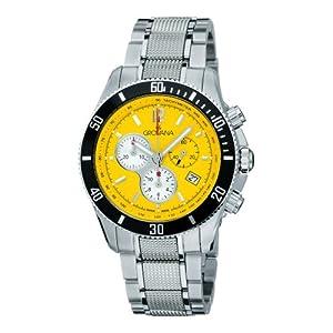 Grovana 1615,9136 - Reloj cronógrafo de cuarzo para hombre, correa de acero inoxidable color plateado (cronómetro, agujas luminiscentes) de Grovana