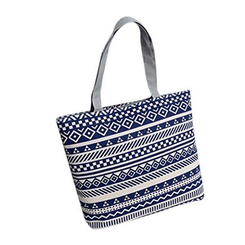 YOUBan Damen Handtasche 2018 Mode Frauen Handytasche Mädchen Druck Leinwand Shopping Handtasche Schulter Tote Shopper Tasche Canvastasche