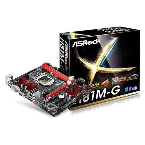 Asrock H81M-G Intel H81 Socket H3 (LGA 1150) Micro ATX Motherboard - Motherboards (DDR3-SDRAM,DDR3L-SDRAM, DIMM, 1066,1333,1600 MHz, Dual, 16 GB, Intel)