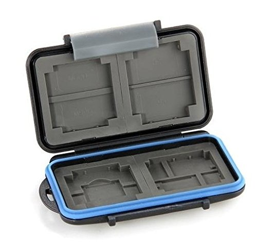 JJC MC-2 Anti-Shock Water-Resistant ABS Rubber Memory Card Case Holder Hard Storage Box For 4x CF 8x SD Card