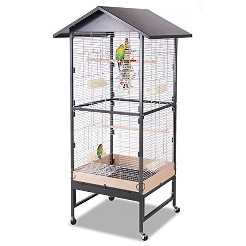Montana Cages ®   Voliere, Zimmervoliere, Käfig Villa Casa 75 - Antik/Platinum