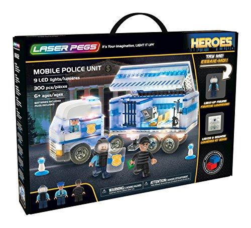 Laser Pegs 18602 Mobile Police Unit Spielwaren, Mehrfarbig Laser Mobile