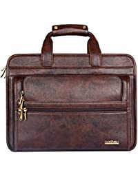 The Clownfish 26 Liters Vegan Leather Briefcase Laptop Bag for Laptops Upto 15.6 inch
