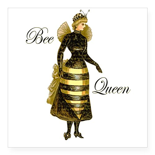 cafepress-bee-queen-square-sticker-3-x-3-square-bumper-sticker-car-decal-3x3-small-or-5x5-large