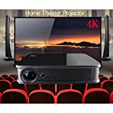 Projektor 4 K, deeiró android5.1 DLP HOME THEATER Projektor Mini Notebook bauen in WIFI Quad Core CPU Vollbildmodus 3d bluray 3d Zoom VGA USB AV HDMI Bluetooth4.0 4 K TV Chips LED-Lampe Schwarz