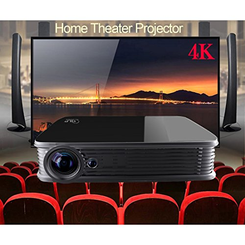Proyector 4K, Deeiró Android5.1 DLP Home Theater