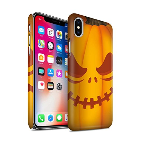 STUFF4 Matte Snap-On Hülle / Case für Apple iPhone X/10 / Geist Muster / Halloween Kürbis Kollektion Unheimlich