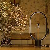 Modern Design USB Creative Balance Lamp Magnetische Mid-Air-Schalter Warm Eye-Care-LED-Lamp LED Desk Eye-Care Lamp for Office, Home, Reading, Study, Work (Black)