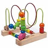 FEI Juguetes para Bebés temprano marco moldeado rompecabezas de la educación de los niños alrededor de la cuenta juguetes educativos de madera del bebé Temprano Educación