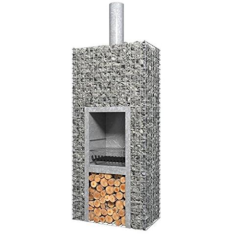 Barbecook 2232802000 Ferro 800 Barbecue à bois Pierre Gris 74