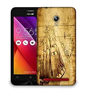 Snoogg Navigator'S Map Designer Protective Phone Back Case Cover For Asus Zenfone GO