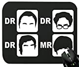 Touchlines - Dr. Dr. Dr. Mr. Mauspad für Gaming und Grafikdesign 230x190x5mm Black