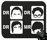 Touchlines - Dr. Dr. Dr. Mr. Mauspad für Gaming und Grafikdesign 230x190x5mm Black