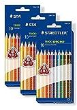 STAEDTLER DreikantBuntstift TRICKI DICKI, 10er Etui 1284 C10