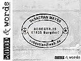 Stempel - Adressstempel Poststempel E.MAIL ME im Vintage Look - individuell personalisiert Familienstempel Firmenstempel Holzstempel - Name Adresse Anschrift E-Mail - für Schule Beruf Freizeit - von zAcheR - fineT