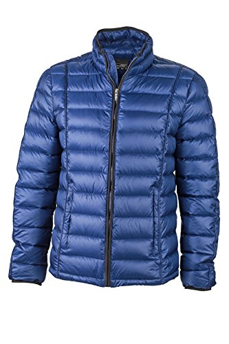 James & Nicholson Herren Jacke Daunenjacke Men's Quilted Down Jacket Ink/Black