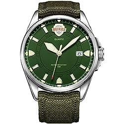 Burei® Herren Uhr Luminous Army Style Uhr Sport Uhr Datumsanzeige Wasserdichtuhr